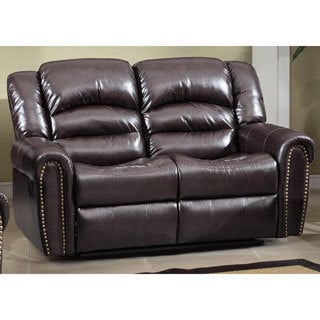 Meridian Chelsea Dual Reclining Loveseat with Nailhead Detail