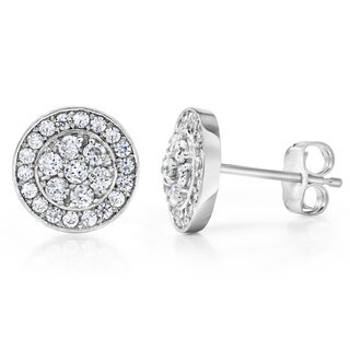 14k White Gold 1/2 TDW Diamond Composite Earrings (I-J, I2-I3)