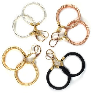 Via Veneto Italian Hoop Earrings