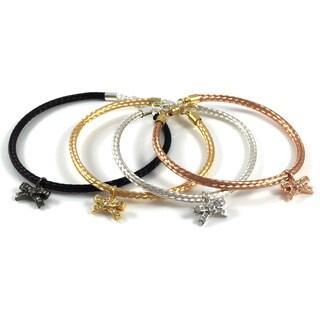 Bella Firenze Cubic Zirconia Bow Charm Bracelets