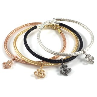 Bella Firenze CZ Fleur de Lis Charm Bracelets