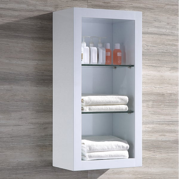 Shop Fresca Allier White Bathroom Linen Side Cabinet With