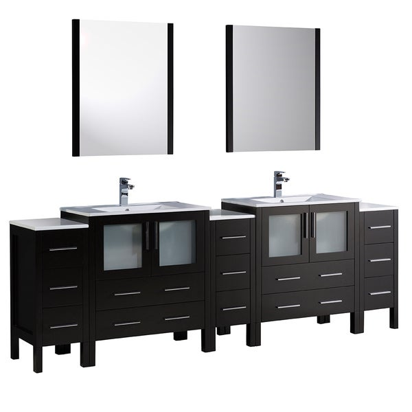 pictures of kitchen sinks shop fresca torino 96 inch espresso modern sink 4218