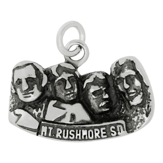 Sterling Silver Mount Rushmore Charm Pendant