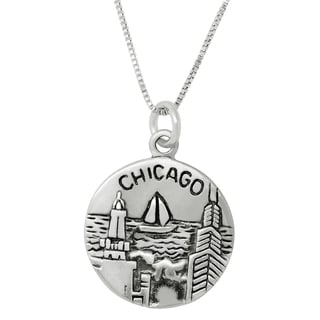 Sterling Silver Chicago Charm Pendant