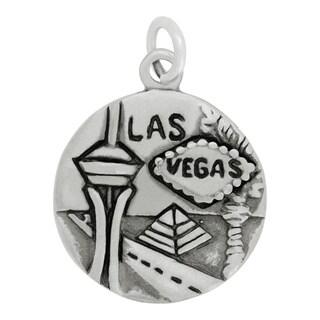 Sterling Silver Las Vegas Charm Pendant