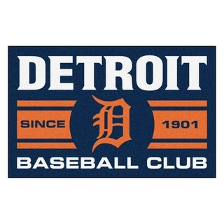 Fanmats Detroit Tigers Blue Nylon Uniform Inspired Starter Rug (1'6 x 2'5)