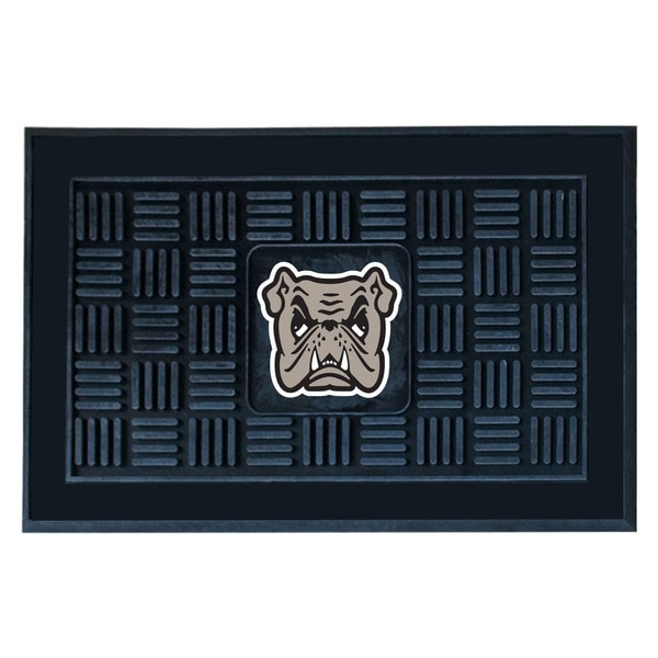Fanmats Adrian College Black Vinyl Medallion Door Mat (1'6 x 2'5)