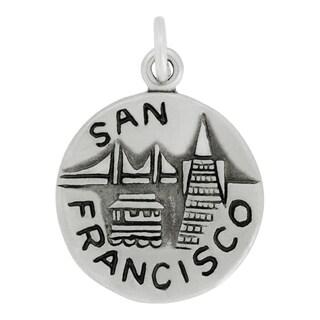 Sterling Silver San Francisco Charm Pendant