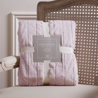 Aurora Home Luxe Mink Faux Fur Throw Blanket