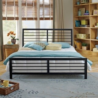 Sleep Sync Covington Black Platform Bed