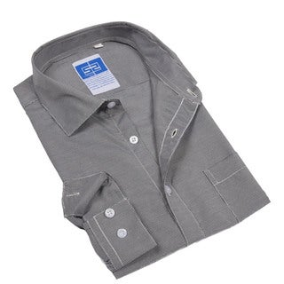 Complicated Shirts Men's Charcoal Micro Check Shirt