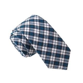 Skinny Tie Madness Men's Kaptain Kool-Aid Blue Plaid Plaid Tie
