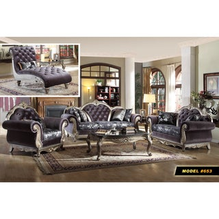 meridian roma velvet living room set with reversible cushions free