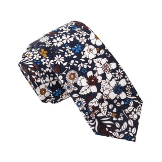Skinny Tie Madness Men's Careful Whisper Black Novelty Print Novelty Printed Tie