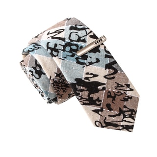 Skinny Tie Madness Men's Some Like it Knot Multi Novelty Print Tie with Clip