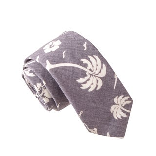 Skinny Tie Madness Men's Steroid Milkshake Grey Novelty Printed Tie