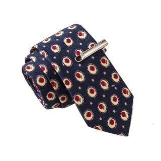 Skinny Tie Madness Men's Nevermind Sandra Bullock Navy Novelty Printed Tie