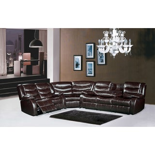 Meridian Gramercy Leather Reclining Sectional Sofa