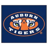 Fanmats Machine-Made Auburn University Blue Nylon Tailgater Mat (5' x 6')