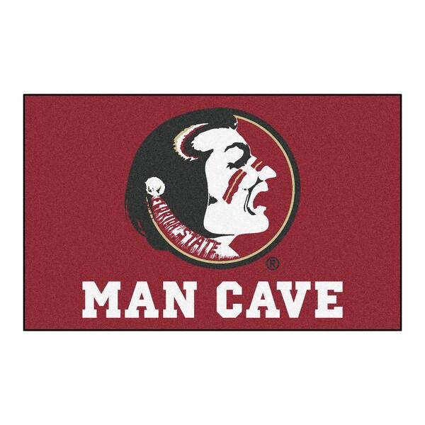 Fanmats Machine-Made Florida State University Burgundy Nylon Man Cave Ulti-Mat (5' x 8')