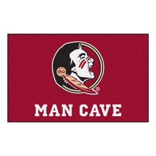 Fanmats Machine-Made Florida State University Burgundy Nylon Man Cave Ulti-Mat (5' x 8')