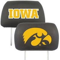 Fanmats Iowa Hawkeyes Collegiate Charcoal Head Rest Covers Set of 2