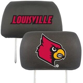 Fanmats Louisville Cardinals Collegiate Charcoal Head Rest Covers Set of 2