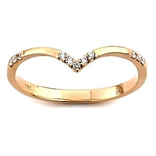 Diamonds for a Cure 18k Gold 1/10ct TDW Diamond Chevron Ring