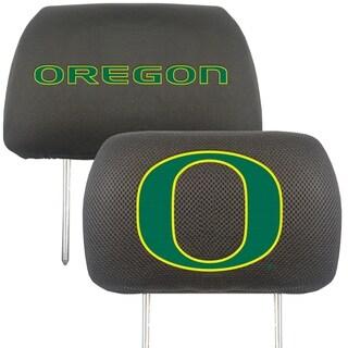 Fanmats Oregon Ducks Collegiate Charcoal Head Rest Covers Set of 2