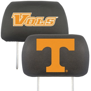 Fanmats Tennessee Volunteers Collegiate Charcoal Head Rest Covers Set of 2