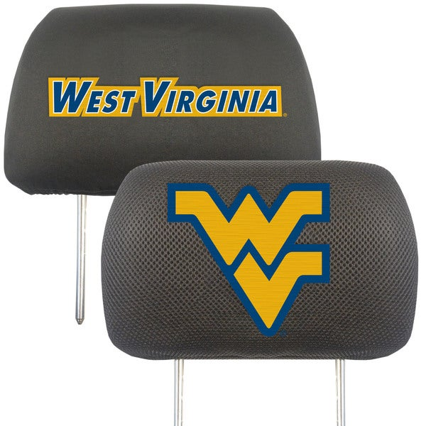 Fanmats West Virginia Mountaineers Collegiate Charcoal Head Rest Covers Set of 2