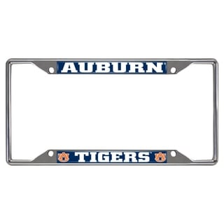 Fanmats Auburn Tigers Chrome Metal License Plate Frame