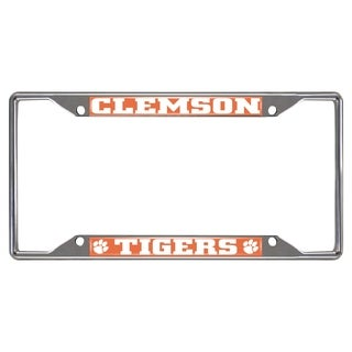 Fanmats Clemson Tigers Chrome Metal License Plate Frame