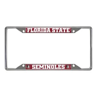 Fanmats Florida State Seminoles Chrome Metal License Plate Frame