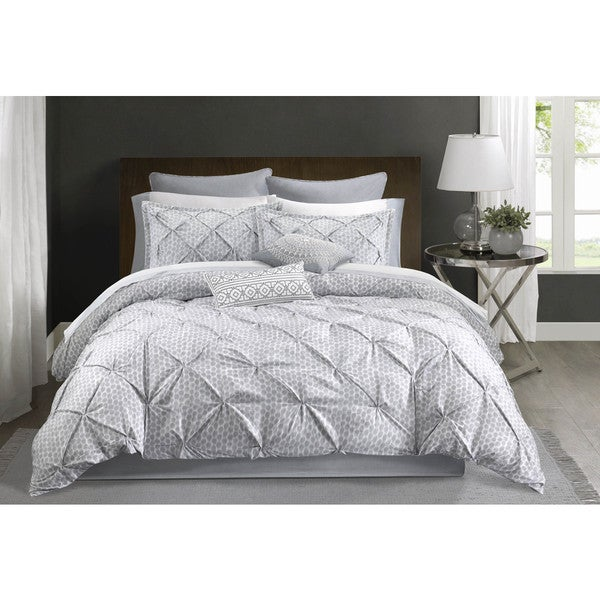 Echo Design? Grey Dot Kat Cotton 4-piece Comforter Set