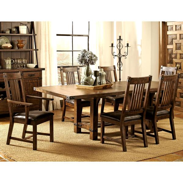 Mission Style Dining Room: Shop Rimon Solid Wood Mission Style Rustic Dining Set