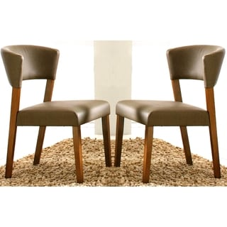 Venetian Contemporary Upholstered Dining Chairs (Set of 2)