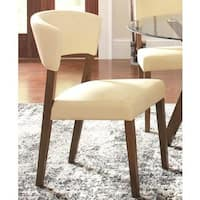 Venetian Contemporary Cream Upholstered Dining Chairs (Set of 2)
