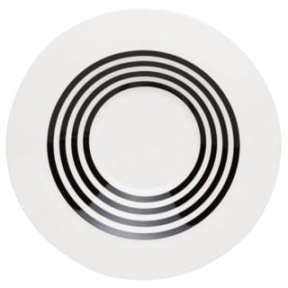 Red Vanilla 9.5-inch Freshness Lines Black Rim Soup Bowl (Set of 6)