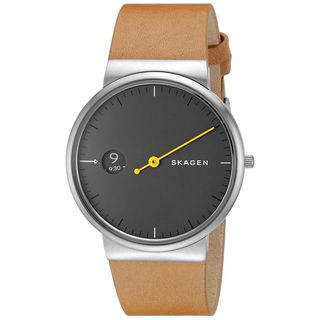 Skagen Men's SKW6194 'Ancher Mono' Brown Leather Watch