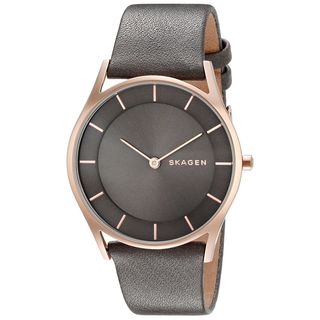 Skagen Women's SKW2346 'Holst Slim' Grey Leather Watch