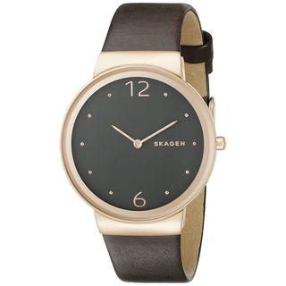 Skagen Women's SKW2368 'Freja' Brown Leather Watch - Silver