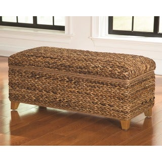Tropical Natural Hand Woven Banana Leaf Storage Trunk