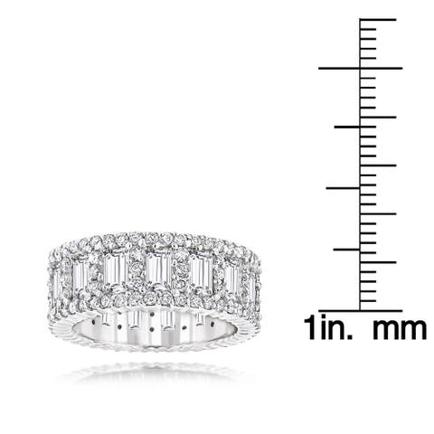 Luxurman 18k Gold 5 4/8ct TDW Diamond Eternity Ring