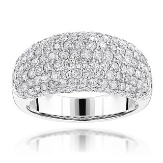 Luxurman 14k Gold 2 3/4ct TDW Pave Round Diamond Band (F-G, VS1-VS2)