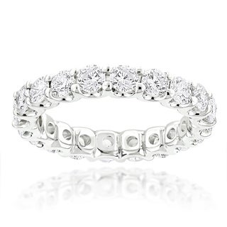 Luxurman 14k Gold 2 1/10ct TDW Round Diamond Thin Eternity Band (G-H, SI1-SI2)