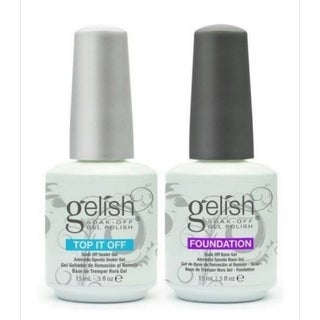 Gelish Soak Off Foundation Base and Top it Off Set