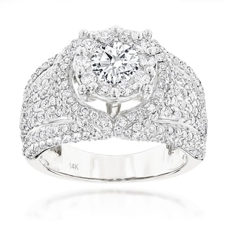 Luxurman 14k Gold 2 4/5ct TDW Diamond Ring (F-G, VS1-VS2)
