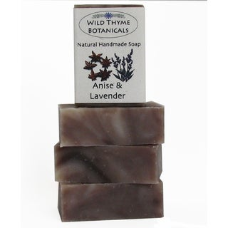 Wild Thyme Botanicals Anise and Lavender Natural Handmade 3-bar Soap Trio